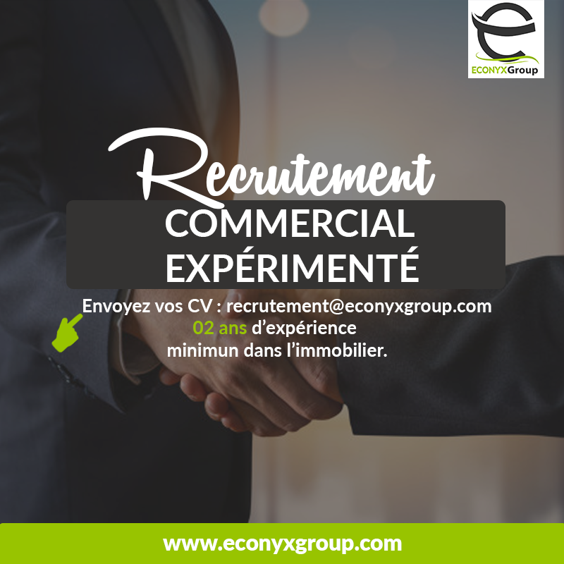 Recrutement commercial immobilier